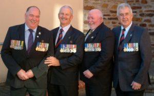 9 RAR comrades Anzac Day 2010 (1 to r) Jock Statton OAM, Warren Featherby OAM, Mick Mummery OAM, John England OAM 106
