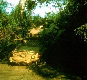 Centurion tank crossing Suoi Cau Moi River